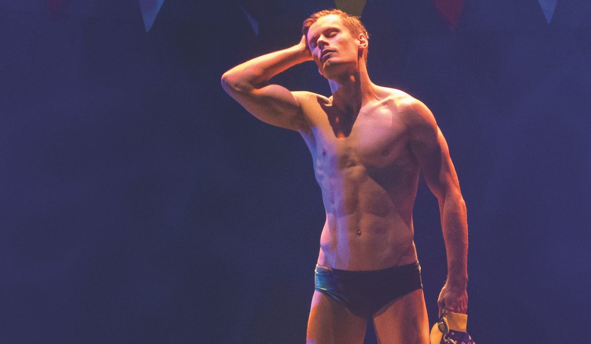 An actor prepares (for budgie smugglers)